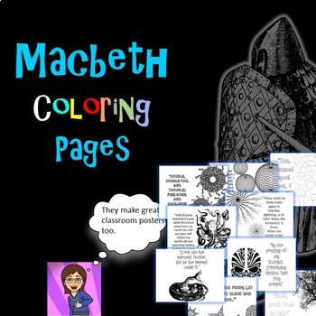 Macbeth Coloring Pages: Mini Posters