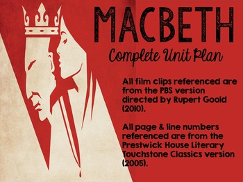 Macbeth Complete Unit with Activities, Assessments, Acting, & Essay