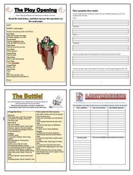 Macbeth Comprehension Activities Booklet!