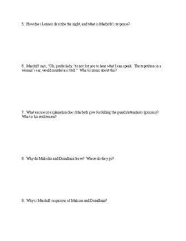 Macbeth - Comprehensive Study Guide Packet - CCSS Aligned