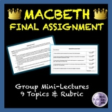Macbeth Final Assignment: Group Mini-Lectures