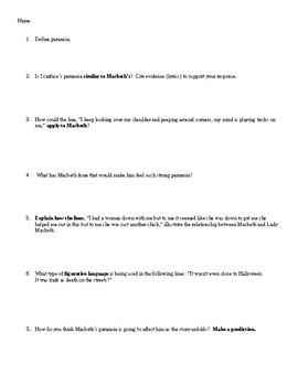 Macbeth Dagger Speech Analysis