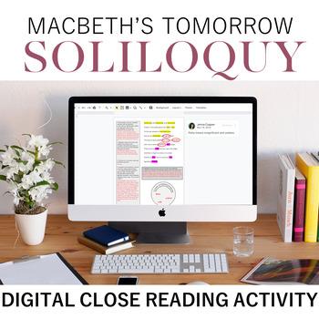 Digital Close Reading: Macbeth's Tomorrow Soliloquy