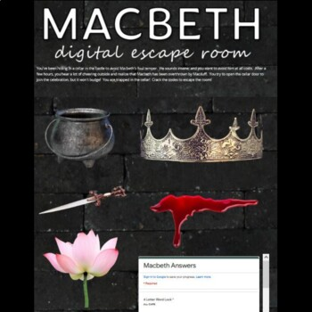 Macbeth Digital Lock Box Escape Room Game: British/AP Lit.