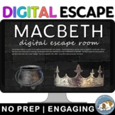Macbeth Digital Escape Room Game: British/AP Lit.