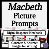 Macbeth Digital Interactive Notebook Writing Prompts for Google Drive