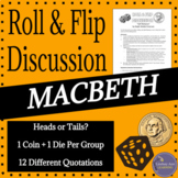Macbeth Discussion Activity for Middle School and High School