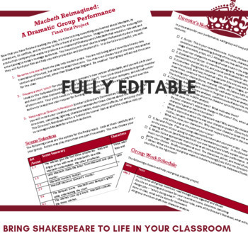 *NEW* Macbeth Director's Notebook, Script-Writing, and Theatrical Performance