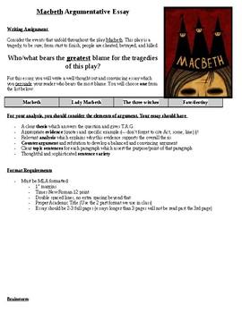 Macbeth Essay Prompt