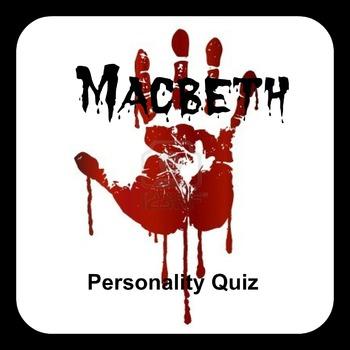 Macbeth FUN Personality Quiz - Pre-Reading Activity