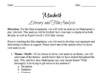 Macbeth Final Essay