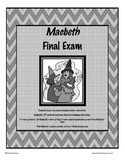 Macbeth Final Exam Test