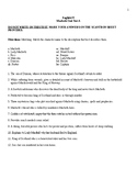 Macbeth Final Test + Answer Sheet + Answer Key