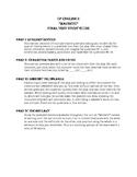 Macbeth Final Test/Exam Study Guide