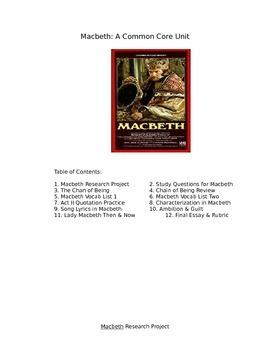 Macbeth Full Unit