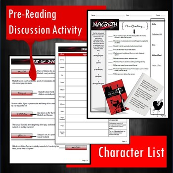 Macbeth Full Unit Guided Reading Packet and PowerPoint Bundle