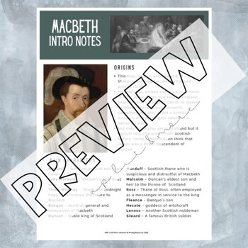 Macbeth Guided Reading Notes