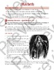 Macbeth (IGCSE / IB Shakespeare) - Act 1, Scenes 4-5 - Lady Macbeth + ANSWERS