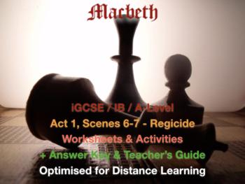 Macbeth (IGCSE / IB Shakespeare) - Act 1, Scenes 6-7 - Regicide + ANSWERS