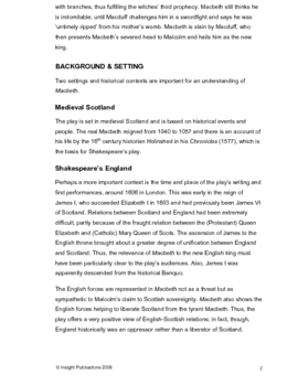 Macbeth Insight Text Article