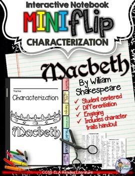 MACBETH CHARACTER ANALYSIS FLIP BOOK