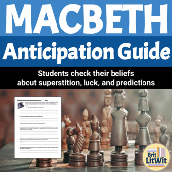 Macbeth Intro Activity: A focus on the supernatural