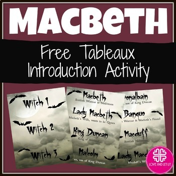 Macbeth FREE Introduction with a Tableaux Activity