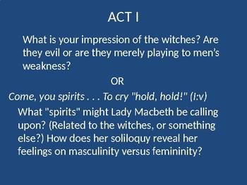 Macbeth Journal Topics