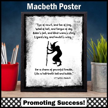 "Macbeth Shakespeare Quote ""Eye of Newt"" Halloween Poster"
