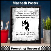 "Macbeth Shakespeare Poster ""Eye of Newt"" Halloween Decor, Literacy Centers"