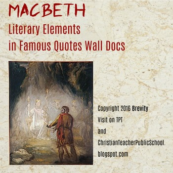 Macbeth Literary Elements in Famous Quotes Wall Docs