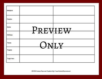 Macbeth Literary Terms Worksheet