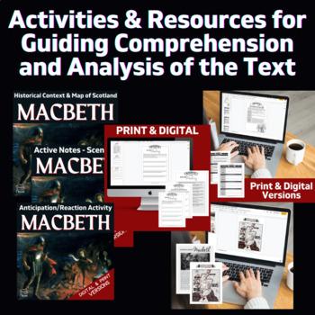 Macbeth Literature Guide - Complete Lesson Plans, Bundle for Teaching Macbeth