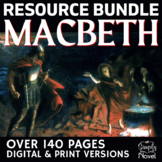 Macbeth Unit Teaching Resource BUNDLE Over 100 Pages in Pr