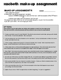 English - Macbeth - Writing Assignment