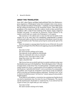Macbeth Manual