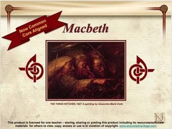 A Novel Advantage ~ Macbeth CCSS Aligned