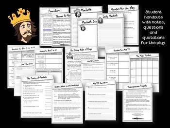 Macbeth - Notes, Questions, Tests, Essays and Assignments