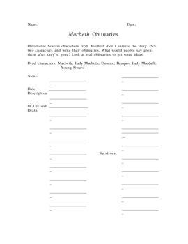 Macbeth Obituaries