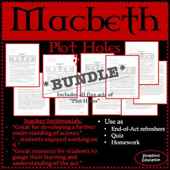 "Macbeth ""Plot Holes"" *BUNDLE*"