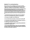 Macbeth Pre-Reading Questions/Argumentative Writing/Debate