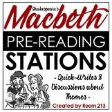Macbeth Pre-Reading Stations {FREE}