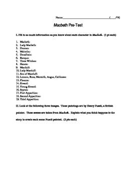 Macbeth Pre-Test
