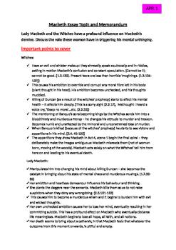 Macbeth: Printable Worksheets and Resources