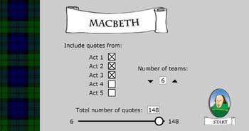 Macbeth Quote Game