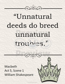 Macbeth Quotes Posters