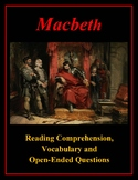 Macbeth Reading Comprehension and Vocabulary Bundle