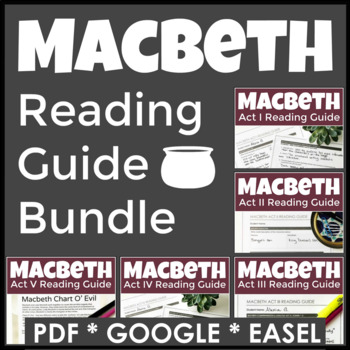 Macbeth Complete Reading Guides With 60 Pages of Highly Engaging Curriculum