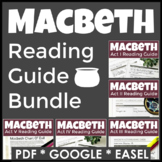 Macbeth Reading Guide Questions for Each Act in PDF, GOOGLE, & Easel