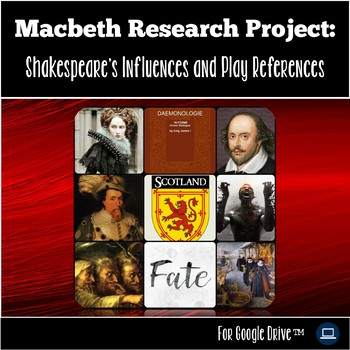 Macbeth Introduction: Macbeth Unit Research Project - William Shakespeare